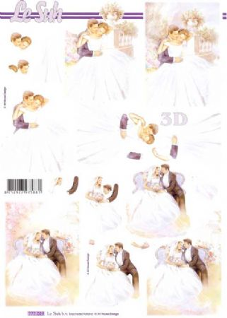 Bride & Groom 2 3d Decoupage Sheet